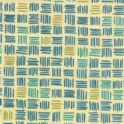 Moda Soho Chic - 2946 - Blue, Teal & Green Square Geometric Print - 17744-27 Cotton Fabric